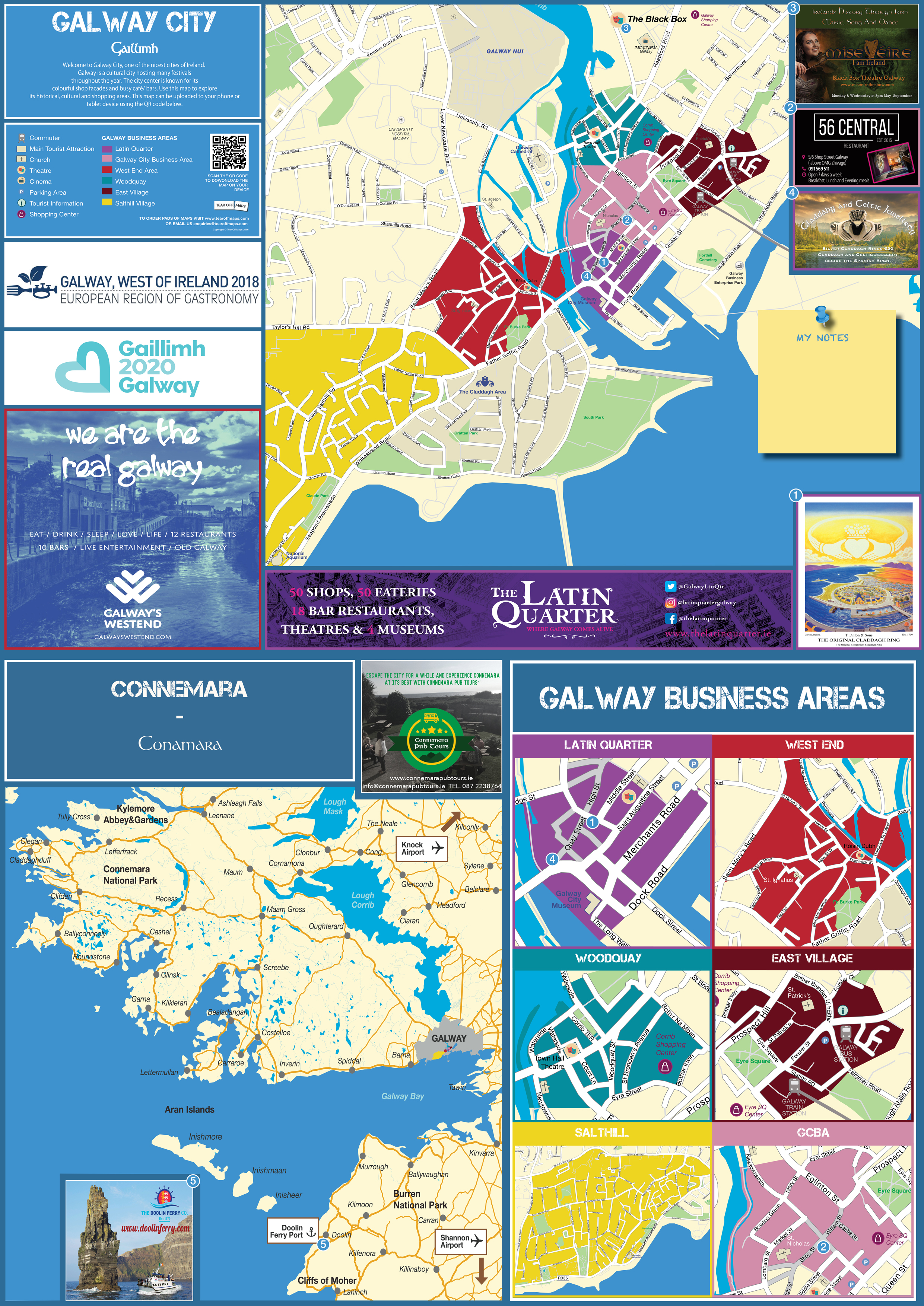 Tear Off MapsGalway City Map